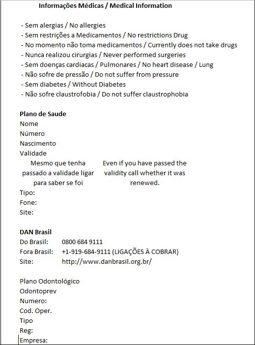 Modelo de Dive LogBook - Registro de Mergulhos (5/6)